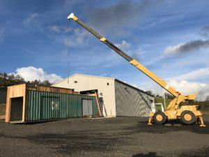 Crane and Cargo Container